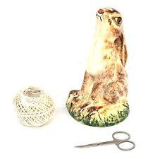 Lièvre Babbacombe pottery china string porte-peint à la main chasse cadeau