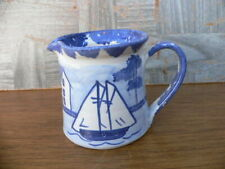 New ListingVintage Shard of Maine Pottery Blue & White Creamer~Nautical Sailboat Shoreline