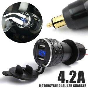 For BMW R1200GS Triumph Tiger 800 XC Hella DIN to Dual USB Motorcycle Charger UK