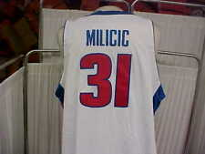 NBA 2003-2004 Detroit Pistons #31 Darko Milicic Game Worn Home Jersey Size 56