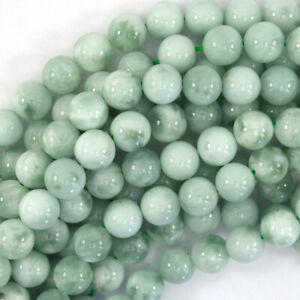 "Natural Green Angelite Round Beads Gemstone 15.5"" Strand 4mm 6mm 8mm 10mm 12mm"