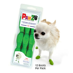 Pawz Dog Boots - Rubber Slip Ons - Disposable, Reuseable, Waterproof