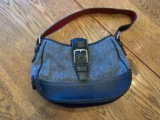 COACH Black & Grey Small Canvas & Leather Purse Bag