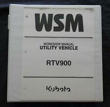 2004-2011 KUBOTA RTV-900 RTV-900XT UTV UTILITY VEHICLE SERVICE MANUAL W/BINDER