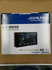 "Alpine iLX-W650 7"" Double Din Digital Media Receivier apple CarPlay Android Auto"