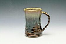 Pottery Ceramic Wheel Thrown Coffee Mug/Cup Amber & Drip Glaze - Rollins