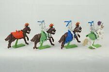 4 Britains Medieval Horses 3 Knights Mounted on Horseback