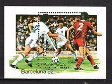 0147+ NICARAGUA BLOC  COUPE DU MONDE DE FOOT  1992