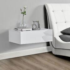Nachttisch Weiß Hochglanz Tisch Nachtschrank Kommode Wandboard Regal