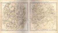 MAP SPACE ASTRONOMY BURRITT 1856 SUMMER CONSTELLATION REPRO POSTER PRINT PAM1209