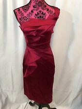 Karen Millen Hot Pink One Shoulder Ruched Dress Size US 4