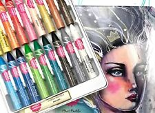 Jane Davenport Mixed Media POWER PASTELS SMUDGING CRAYONS 18 PC