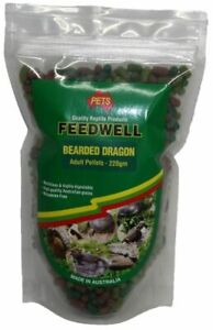FEEDWELL BEARDED DRAGON PELLETS 220G ADULT/JUVENILLE