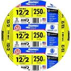 12/2 Romex Wire 12-2 AWG 250ft Non Metallic Cable Copper Electrical Wire 250'