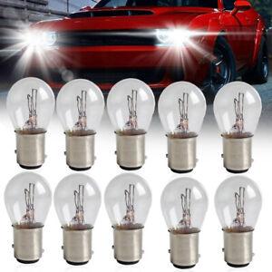 10PCS Universal 1157 Light Bulb Car Brake Stop Signal Turn Reverse Tail Lamp S25