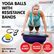 Powertrain Fitness Yoga Ball Home Gym Workout Balance Trainer Pilates Purple