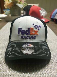 New Era 39Thirty FedEx Racing Nascar Denny Hamlin Men's S/M Fitted Hat
