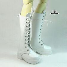 1/4 BJD Shoes MSD Dollfie DREAM PUNK White leather Boots MID DOD LUTS SOOM AOD