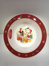Mickey & Minnie Kids Dinner Bowl - XMAS DESIGN - Red Green NEW Disney Festive
