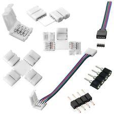 RGB LED Strip Leiste Verbinder Adapter Stecker 4 Pin 5050 für Lichterkette