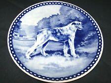 "Vintage Irish Wolfhound Dog Tove Svendsen Denmark Original 7 5/8"" Hunde Platte"