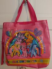 Hasbro's My Little Pony Rainbow Magic Vinyl Tote Bag 2014 F.A.B. NY + zip pouch