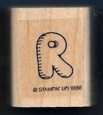 R Bubble Letter 1996 Writing Rebus Stampin' Up! Craft Hobby RUBBER STAMP