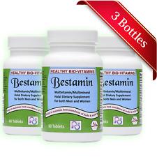 Halal Multi Vitamins/Minerals For Men & Women - Made in USA Healthy Bio-Vitamins