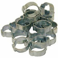 140 X ASSORTED BOX O CLIPS 2 EAR CLAMPS CLIP CLAMP 8-11MM TO 17-20MM  AT67