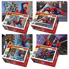 Trefl MINI 4 x 54 Pezzi bambini ragazzi Marvel Spiderman VOLANTE Puzzle NUOVO