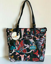 NEW! SAKROOTS ARTIST CIRCLE BLACK PEACE LARGE SHOPPER TOTE BAG PURSE $79 SALE