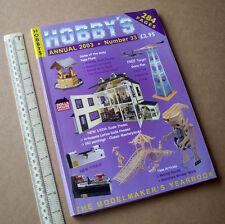 2003 HOBBY'S Catalogo annuale #33 case di bambole CAVALLO DISEGNATO Barche lungo la linea Orologi