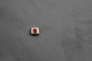 Nomination Italian Link Charm Round Ruby Stainless Steel 030505 10 NWOT