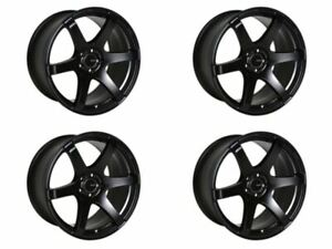 Set of 4 Enkei T6S 18x8.5 45mm Offset 5x100 Bolt Pattern 72.6 Bore Matte Black W