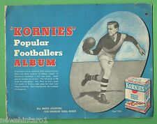 #T52.  1949  KORNIES POPULAR FOOTBALLER ALBUM WITH 35 of 108 CARDS