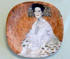 Porzellanteller Gustav Klimt, Lilienporzellan, 'Portrait Fritza Riedler', neuw.