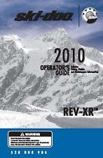 Ski-Doo owners manual book 2010 REV-XR Renegade Adrenaline & GSX LE
