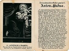 Nr 15754 Andachtsbild holy card Litho Gebet  Anton von Padua