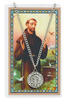 St. Francis of Assisi Medal Necklace with Laminated Prayer Card