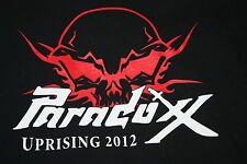 Paradoxx Large Concert Tour T Shirt 2012 Uprising Plan of Attack Chicago Metal