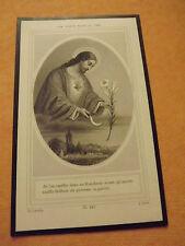 """ancienne image religieuse pieuse deces, """"une fleur pour le ciel"""" 1878 *"""