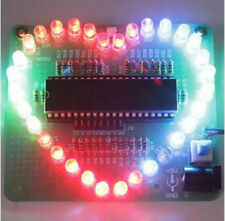 5 pcs Stc89C52 Heart Shape Colorful Led Module Water Light Parts & Components