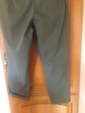 £29.50 New Ex-BHS Ladies Khaki Bootleg Shiny Trousers Size 14 Long