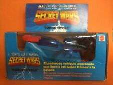 1985 MATTEL MARVEL SUPER HEROES SECRET WARS TURBO CYCLE VINTAGE VEHICLE SEALED