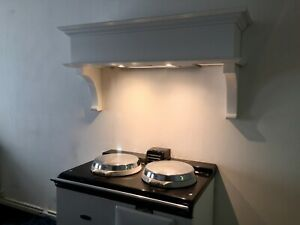 Wessex Style Cooker Hood 110cm Extractor Fan LED Lights Plain Cornice Aga etc