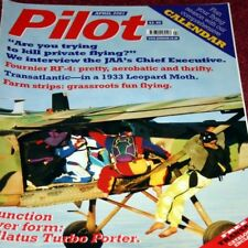 Pilot Magazine 2001 April Pilatus PC-6 Turbo Porter,Leopard Moth,Fournier,LVG