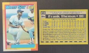 1990 FRANK THOMAS NNOF No Name on Front REPRINT NOVELTY ROOKIE CARD WHITE SOX