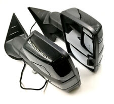 For 03-06 Silverado Painted Black Tow Mirror Power+Heated+Smoke LED Turn Signal
