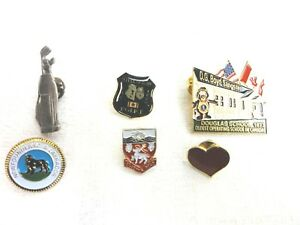 Lot of 6 Pins Canada Stellarton Police New Foundland St Johns Golf Clubs #59