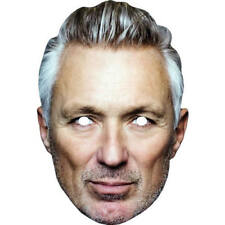 Martin Kemp Grey Hair Celebrity Card Face Mask - All Our Masks Are Pre-Cut!